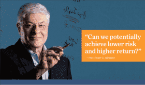 Roger ibbotson picture: can we achieve higher returns with lower risk?