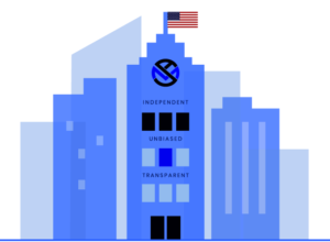 My annuity store, inc office building isometric drawing w/ american flag annuity reviews page